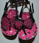 Ice Cream Baby Flip Flops Sandals Spencer's Baby Velcro Easy On Off BRAND NEW