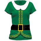 NEW Christmas Santa Helpers Elves  Elf Costume Outfit Suit Sizes T-shirt top tee