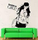 Wall Stickers Vinyl Decal Fashion Girl Teen Woman In Glasses With Purse  (z2171)