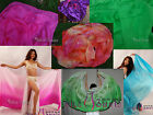 23m09m9035 5mm silk belly dance veil for children play various colors