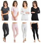 Multi Pack Womens/Ladies Thermal Underwear Tops Bottoms, Long/Short Sleeve