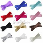 """22"""" Long Satin Stretch Gloves Above Elbow Bridal Prom Wedding Formal Party Color"""
