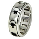 Sterling Silver Moon Phase Spinner Rotating Worry Ring (sz 4-15) Wicca Pagan