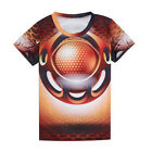 Women Men's  Running Cycling Bike Jersey Sport Tees 3D T-Shirt Round neck  Tops