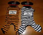 Dog Halloween Costume Jailbird convict PRISONER Size S 10-13 in M 14-17 L 18-21