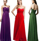 Lady Elegant  Double-shoulder Formal Bridesmaid Wedding Party Evening Dress Gown