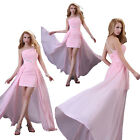 2014 Sexy One Shoulder Bridal High low Dress Draped Party Prom Evening Dresses