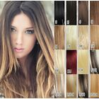 8pcs 140g 120g full set heavy Clip In Remy Human Hair Extensions any length new
