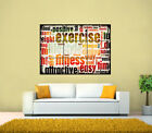 Motivational Quotes For Weightloss, Exercise GIANT Poster, Various sizes from A3