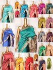 Art Indian Silk Saree Resham SARI EHS Fabric Curtain Six Yards Panel Material