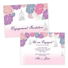 Personalised engagement party invitations PASTEL FLORAL BIRDCAGE FREE ENVELOPES