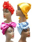 Square Satin African Head Wrap Black Hair Scarf Tie Protective Silky Texture