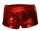 G5553 Mens Boxer Brief Shiny Metallic Trunks Contoured Pouch Full Back