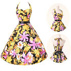 50s Rockabilly Pinup Women Swing Evening Party Cocktail Prom Vintage Retro Dress