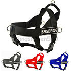 american bully harness - Quick Nylon Working Service Dog Harness with Handle Pitbull Bully Large S M L XL