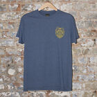 Obey Serving the Streets Short Sleeve T-Shirt New - Heather Indigo - Size: S,XL
