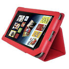 PU Leather Stand Case Cover for Barnes & Noble NOOK COLOR Tablet PC BLACK RED