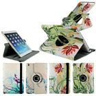 Flower Design 360 Rotating Magnetic PU Leather Case Smart Cover for iPad 2/3/4