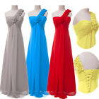 Chic Sexy One Shoulder Long Bridemaid Evening Dress Pageant Formal Prom Ballgown