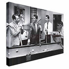 The Rat pack playing pool movie greats Canvas Wall Art Print Large + Any Size