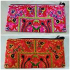 Thai Hmong Tribal Ethnic Bird Flower Embroidered Clutch Bag Handbag Thailand