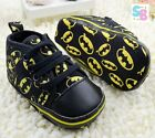 BABY BOY BATMAN CONVERSE CHUCK TAYLOR FIRST SHOES TRAINERS 0-3-6-12-18-24 MONTHS