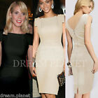 Womens Celebrity Style Cocktail Evening Shift Sheath Stretch Bodycon Dress D33
