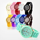 Hot Sale Unisex Geneva Silicone Jelly Gel Quartz Analog Sports Wrist Watch