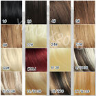 2015 Hot clip in real human hair extensions black brown red blonde 70g 20 inch