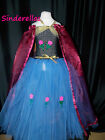Frozen  Anna / Elsa dress Disney (Inspired) Tutu Dress Age 4-12 HandMade