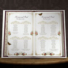 PERSONALISED UNIQUE STORY BOOK STYLE WEDDING TABLE SEATING PLAN PLANNER