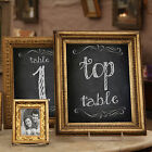 CHALKBOARD  STYLE  A6 TABLE NUMBERS - 1-12 PLUS TOP TABLE AVAILABLE