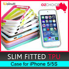 New Walnutt Bumper Trio Slim Fitted TPU Case Shock Absorption for iPhone 5 5S