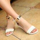 Womens Summer Casual Gladiator Open Toe Metal Zipper Faux Leather Sandals Shoes