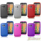 S Line Soft TPU Silicone Skin Rubber Case Back Cover For Motorola Moto G XT1032