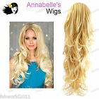 """ANNABELLE'S WIG 27"""" Extra Long Curly 3/4 Piece Half Head Wig #AB13"""