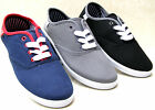 NEW CANVAS BOYS GIRLS SHOES BLACK NAVY GREY SPORT LACE UP TRAINERS SIZES 3 4 5 6