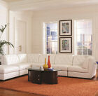 Sectional Sofa Couch in Bonded leather Style Living room 6pc Furniture 551021 31