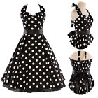 UK Classic Retro Dress Vintage 50s 60s Rockabilly Polka Dot Cocktail Party Dress
