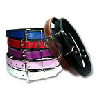 New Handmade Soft Padded Real Luxury Leather Adjustable Dog Puppy Pet Collars