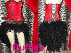 Feather Waterfall Skirt Moulin Rouge Showgirl in:Black Red White Pink Blue 8-16