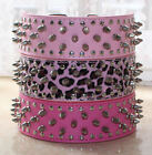 NEW Large Breed Spiked Studded Leather Dog Collar Pitbull Collar Size S M L XL