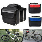 BLACK/BLUE/RED Cycling Bike Bicycle Top Frame Pannier Front Tube Double Saddle