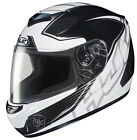 HJC HELMETS CS-R2 INJECTOR MOTORCYCLE STREET RIDING MC-5 SILVER BLACK WHITE DOT