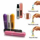 5ml Easy Fill Refillable Travel Perfume Atomizer Pump Spray Bottle Pocket 5Color