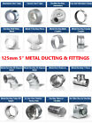 """Metal 5 inch Ducting Pipe Ventilation Extractor Fan fittings for 5"""" dia/ 125mm"""