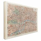 19th century old map of London Canvas Art Cheap Wall Print Large Any Size