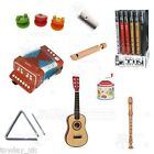 Children's Musical Instruments Slide Whistle Recorder Wooden Maracas Mini Guitar