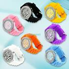 Zebra Animal Pattern Crystal Silicone Men Ladies Wrist Watch 7 Colors