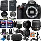 Nikon D3200 Digital DSLR Camera + 3 Lens 18-55mm VR + 24GB KIT More Brand New